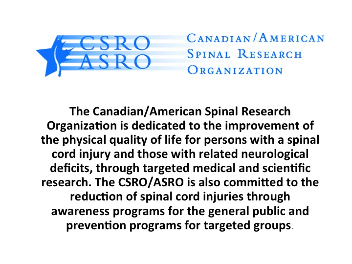 Canadian/American Spinal Research Organization