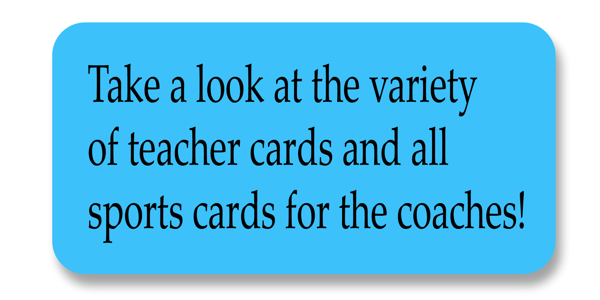 Card for Coaches